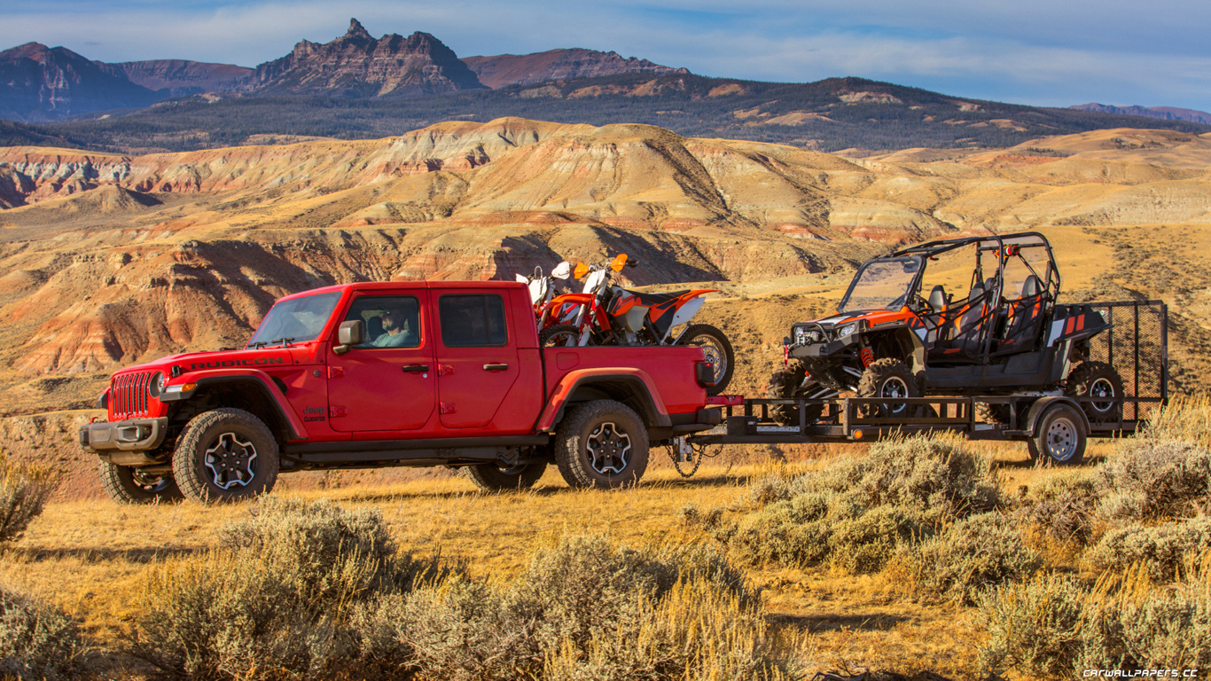 Cars desktop wallpapers Jeep Gladiator Rubicon   2019 ...