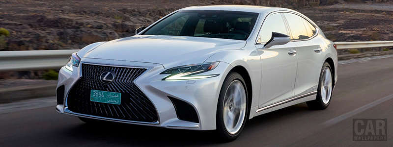 Cars wallpapers Lexus LS 500h AWD (Sonic White) - 2017 - Car wallpapers